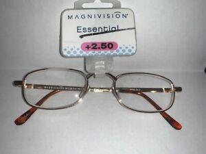 "FOSTER GRANT Magnivision ""RR58"" Reading Glasses, Gold"