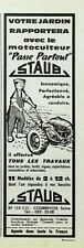 Publicité papier MOTOCULTEUR STAUB avril 1960 P1025128