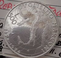 REPUBBLICA ITALIANA 500 LIRE 1974 G. MARCONI
