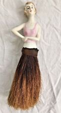 Antique Porcelain Half Lady German Woman Garment/Dresser Brush Germany Blonde