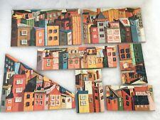 VINTAGE  1960S  CHILDRENs  PUZZLE CITY SCENE BUILDINGS APARTMENTS