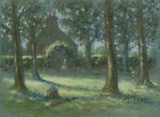 Frederick William George, Girl in Orchard Garden – Early C20th pastel drawing
