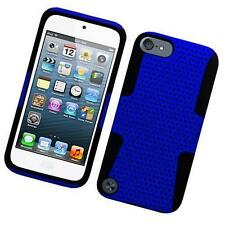 Black Blue Rubber Hybrid Dual Layer Case Silicone Cover For Apple itouch 5 6