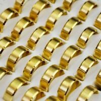 50pcs Gold Men Ring Stainless Steel Rings Lots Fashion Mix Wholesale Jewelry YFP