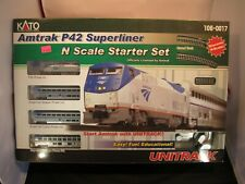 KATO N SCALE AMTRAK P42 SUPERLINER STARTER SET WITH UNITRACK NEW IN BOX 106-0017