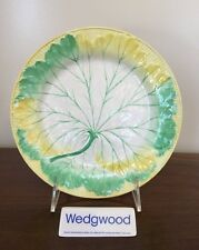 Antique Wedgwood Majolica YELLOW GREEN & WHITE LEAF PLATE c. 1860 (D)