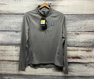 NEW $70 Indianapolis Colts 1/4 ZIP Performance Pullover Sweater Womens sz S Gray