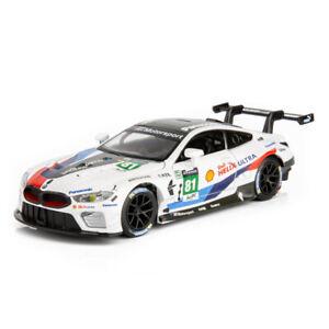 1:32 BMW M8 GTE Le Mans Racing Car Model Diecast Toy Vehicle Kids Sound Light