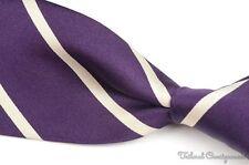 """Ralph Lauren Purple Label lila gestreift 100% Seide Herren Luxus Krawatte - 4.00"""""""
