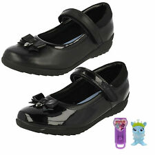 572b79be35b Girls Clarks Bow Detailed School Shoes Ting Fever INF UK 11.5 Black Patent G