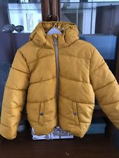 Girls Hennes Yellow Winter Coat 7-8years