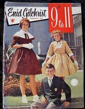Enid Gilchrist 9 to 11 years Girls & Boys Vintage pattern book Sewing Draft ptns