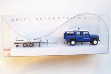 HO Busch 50322 French Police ( GENDARMERIE ) Land Rover Defender WITH BOAT