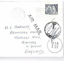 XX60 1972 CANADA STATIONERY *Prince Rupert* Underpaid Airmail Cover England