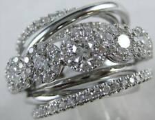White Gold Cluster Stud Band R07500Wt Modern 2.55Ctw Diamond Right Hand Ring 18K