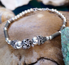 Vintage Verspielt 1 cm Ø Antik Armband 17 18 19 cm Armkette Silber Silberarmband