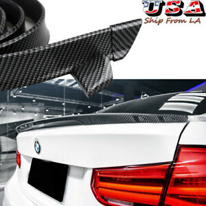 Carbon Fiber Rear Trunk Tail Lip Spoiler Wing Trim For BMW 1 2 3 4 5 6 7 Series