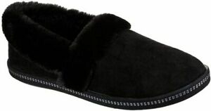 Skechers Cozy Campfire All Black Ladies Slippers with Faux Fur, Comfy UK  4-8