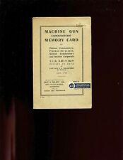 (of) Machine Gun Commanders' Memory Card , April 1940, Aldershot, folded card
