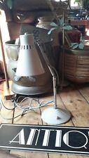 Vintage retro desk light lamp chrome metal articulated knuckle shade