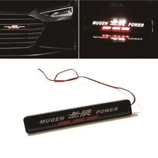 1Pcs JDM Mugen Power LED Light Car Front Grille Badge Illuminated Decal Sticker