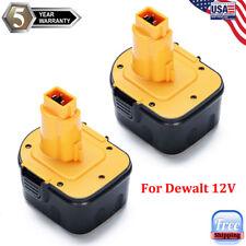 2x 12V Battery For Dewalt DC9071 DW9071 DW9072 DE9072 12Volt XRP Cordless Drill