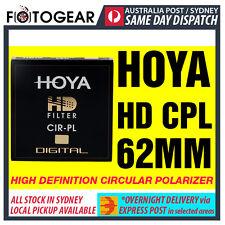 Genuine HOYA HD High Definition Density Circular Polarizer CPL 62mm EXPRESS POST