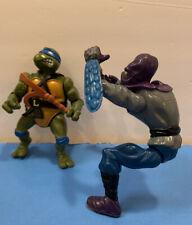 1988 TMNT Teenage Mutant Ninja Turtles LEONARDO + FOOT SOLDIER + Accessories