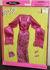Barbie Fashion Avenue Film Festival Gown Stole Heels # 25755 NIP 2000 clothes