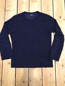 APC Crew Neck Navy Sweatshirt. Size Small