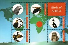 Birds of Africa Stamp Sheet (Penguin/Eagle Owl/Parrot/Cormorant/African Darter)