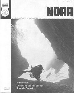 1972 NATIONAL OCEANIC & ATMOSPHERIC ADMINISTRATION (NOAA) MAGAZINE (SUBMERSIBLES