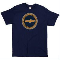 ESDJCO Men's Classic DJ Turntable Dots / Matrix T-Shirt, Authentic Tee - Blue XL
