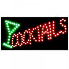 LED BAR SIGN COCKTAIL DRINKS PUB CLUB WINDOW SHOP DISPLAY LIGHT LAMP 48cmx24cm