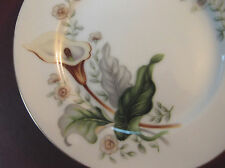 2 Grace China Wood-Lily  Bread & Butter Plates Set MIJ Vintage Ivory Gold Floral