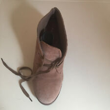 WOMEN LEATHER SUEDE WEDGE ANKLE BOOTS ALDO SIZE UK 5