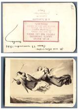 Une image religieuse Sainte-Catherine portée par les anges CDV vintage albumen c