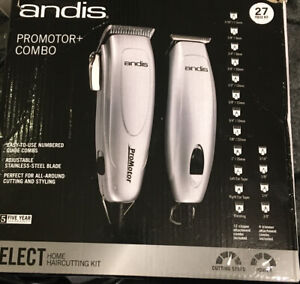 Andis 24565 Haircut Kit Promotor Combo 27pc Silver Open Box, Unused Product