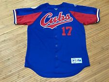 LARGE - Vtg MLB Chicago Cubs #17 Grace Majestic Sewn Jersey USA