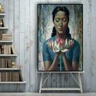 Water lily Portrait Oil Painting on Canvas Tretchikoff Vladimir Posters and Prin