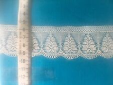Antique Vintage COTTON LACE, England. New over 70 years old ,1m x 45 mm wide,