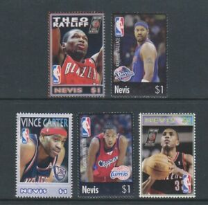 Nevis - 2005, National Basketball Association, NBA Ensemble - MNH - Sg 1935/9