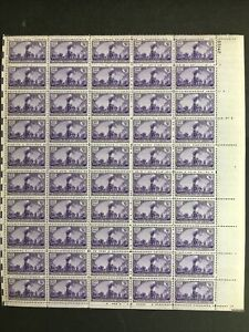 1944 sheet of postage stamps - Transcontinental Railroad, Sc # 922