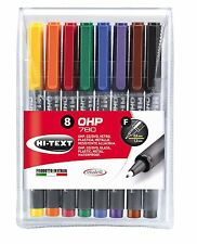 HI-TEXT Permanent OHP Pens 780 Markers Fine (Pack of 8)