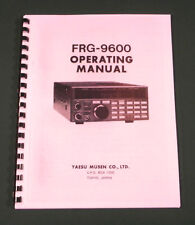 Yaesu FRG-9600 Instruction Manual - Premium Card Stock Covers & 28lb Paper!