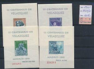 LO10854 Spain 1961 imperf Velazquez art sheets MNH cv 40 EUR