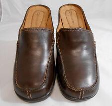 Naturalizer Morra Brown Leather Block Heel Mules Womens Size 8.5 M