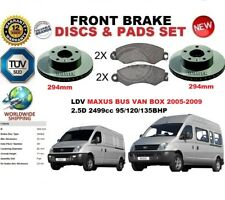 FOR LDV MAXUS 2.5D BUS VAN BOX 05-09 FRONT BRAKE DISCS SET + BRAKE PADS KIT