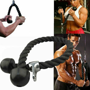 Exercise Fitness Tricep Rope Multi Gym Cable Attachment Press Push Pull Down Arm