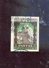 Lithuania old stamp,used,imperfVF